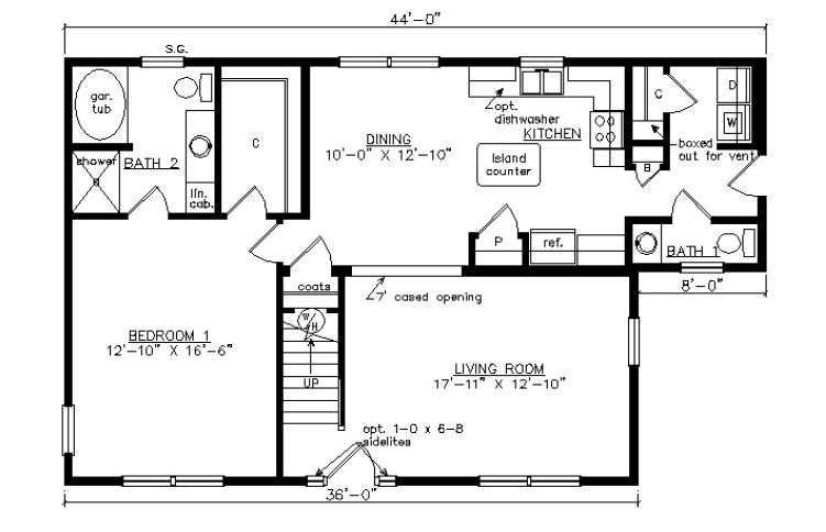 Oxford i 1585 square foot cape floor plan for Oxford floor plan