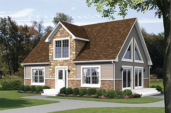 Alpine 942 square foot cape floor plan for Express modular pricing