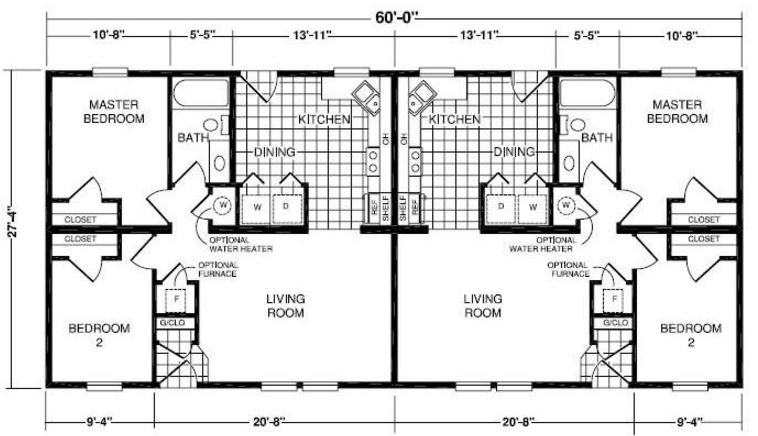 Model 7281 820 square foot multi family floor plan for Share builders plan