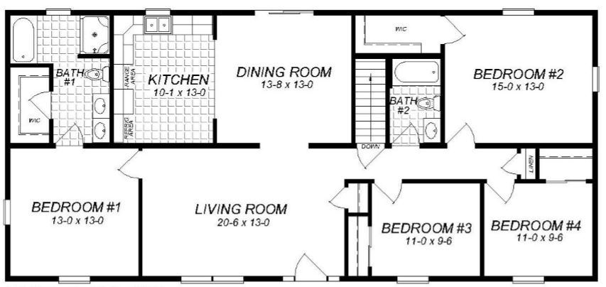 Laurel i 1650 square foot ranch floor plan for Share builders plan