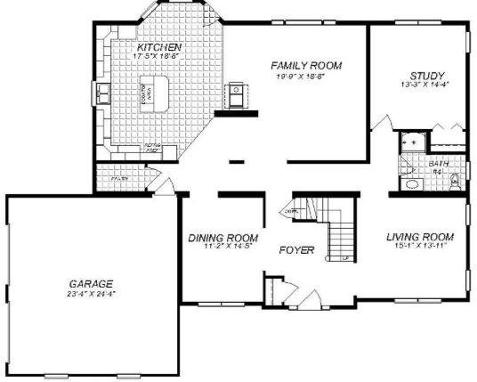 4499 Square Foot Two Story Floor Plan