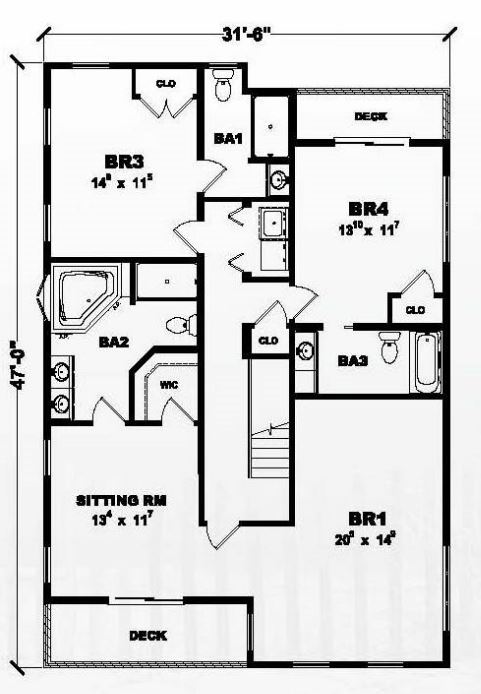 Oyster cove 2692 square foot two story floor plan for Share builders plan