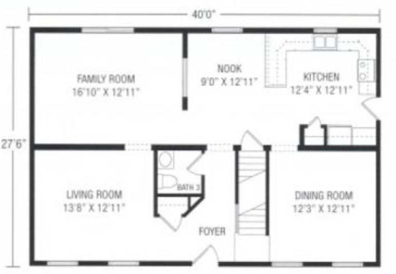 Bennington 2200 Square Foot Two Story Floor Plan