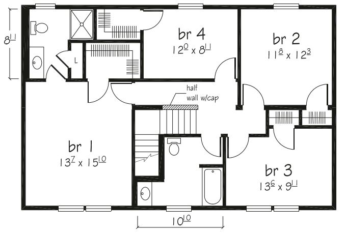 Jamestown i 2080 square foot two story floor plan for Share builders plan