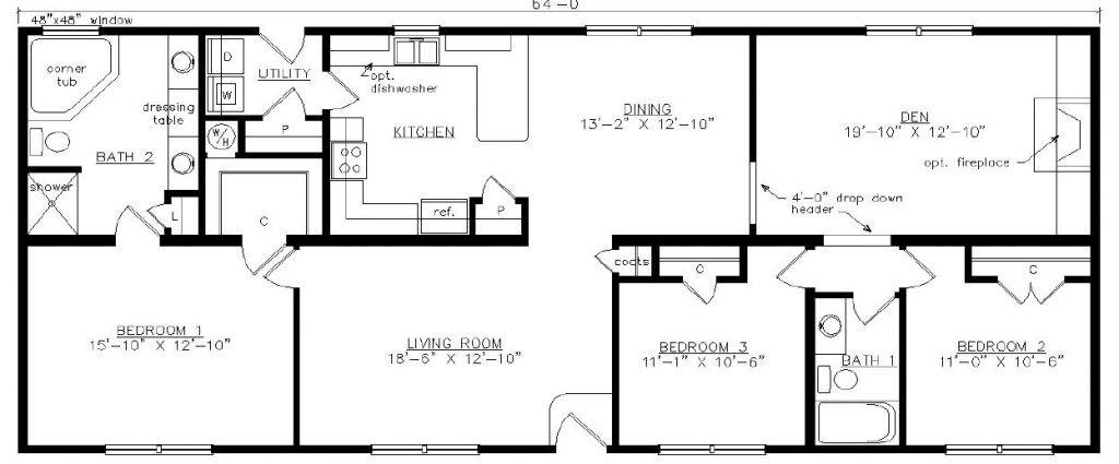 Brantley 1749 square foot ranch floor plan for Share builders plan
