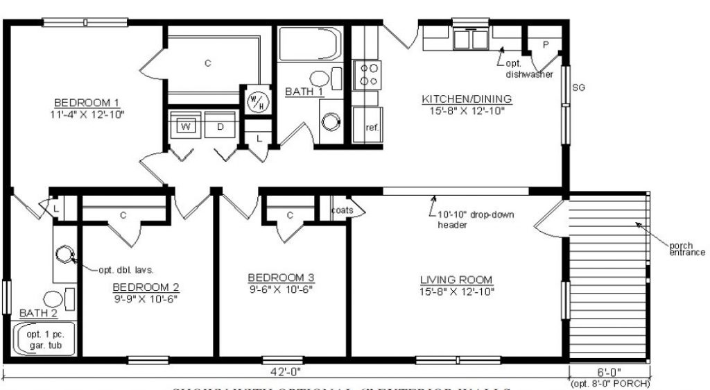 Rockbridge 1257 square foot ranch floor plan for Share builders plan