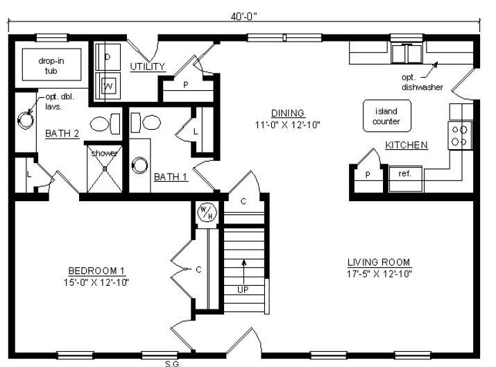 Wedgeport i 1640 square foot cape floor plan for Share builders plan