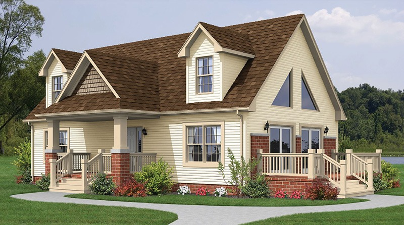 Aspen 1040 square foot ranch floor plan for Express modular pricing
