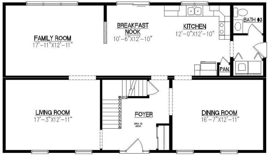 Barrington 2640 square foot two story floor plan for Barrington floor plan