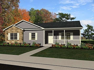 Contour 1499 square foot ranch floor plan for Express modular pricing