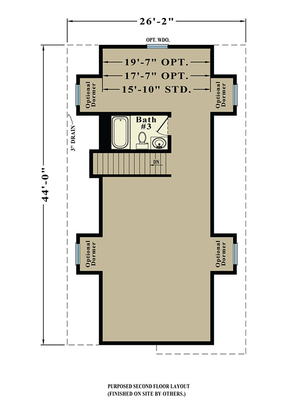 Cottage 1095 square foot cape floor plan for Share builders plan