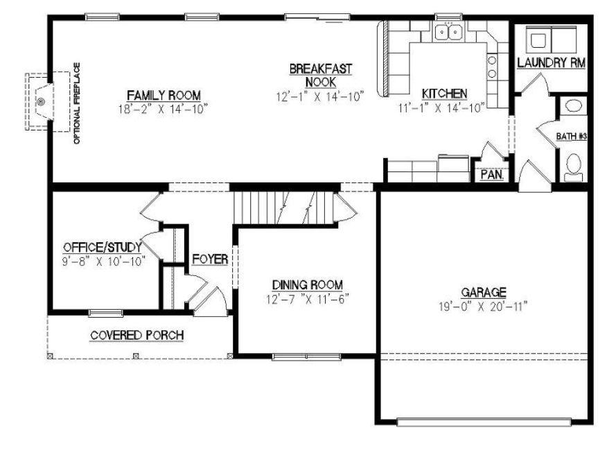 Covington i 2668 square foot two story floor plan for Covington floor plan