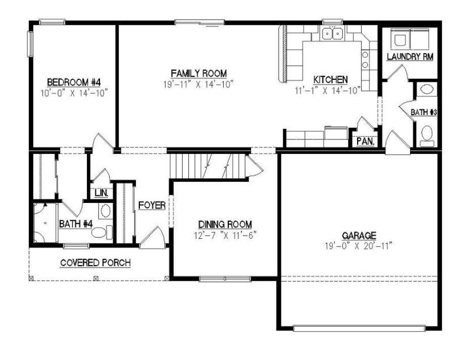 Covington ii 2668 square foot two story floor plan for Covington floor plan