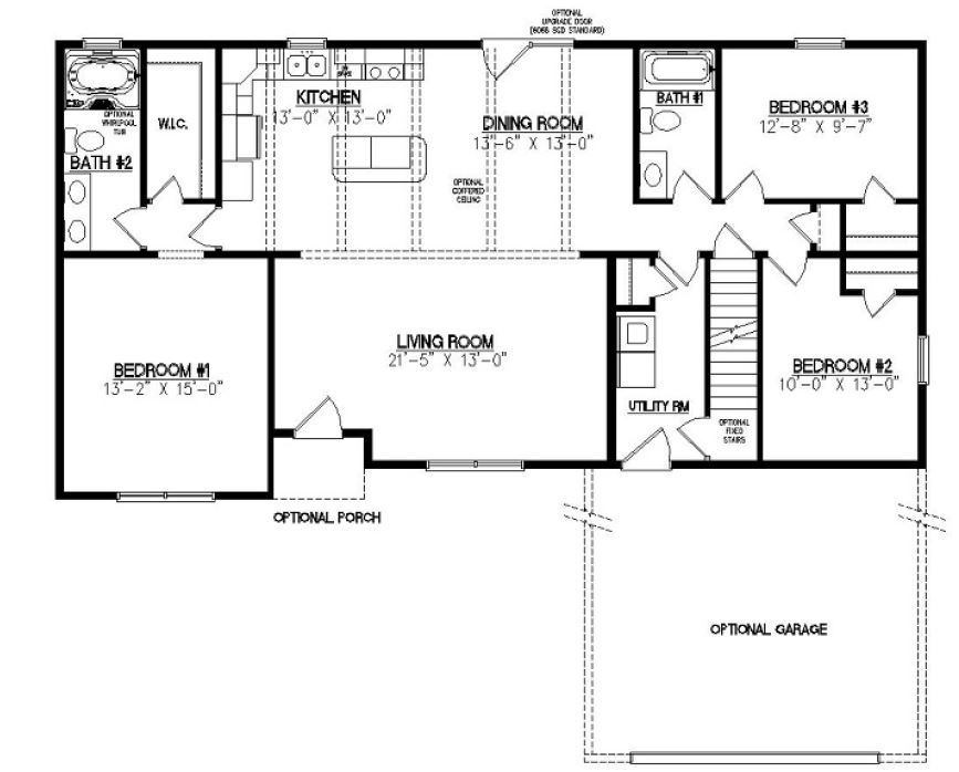 Jamison iii 1557 square foot ranch floor plan for Share builders plan