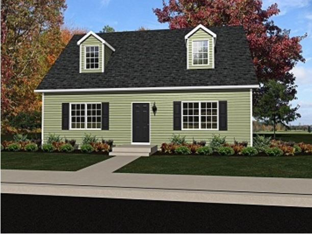 Meadow I 990 Square Foot Cape Floor Plan