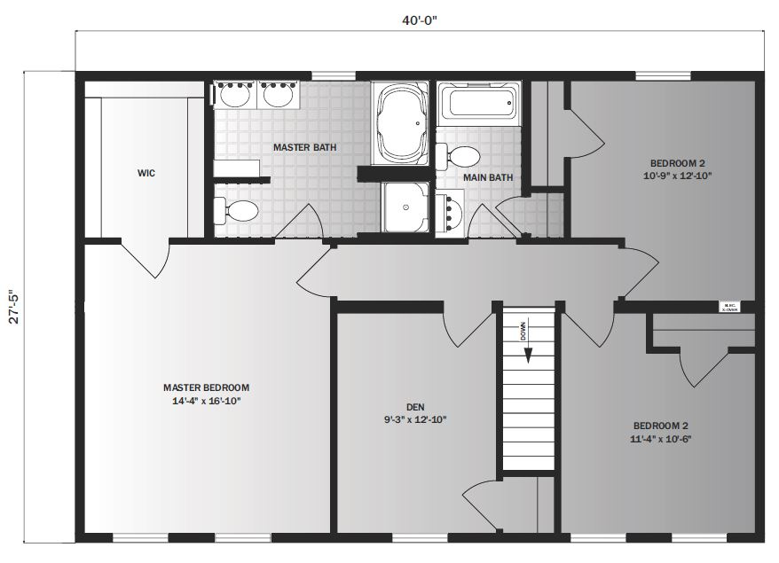 Westfield 2194 square foot two story floor plan for Share builders plan