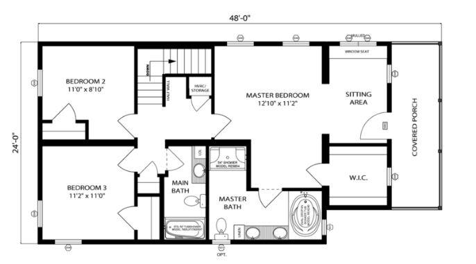 Nantucket 1938 square foot two story floor plan for Nantucket floor plan