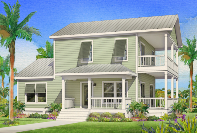 Kingfisher 1680 Square Foot Two Story Floor Plan